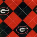 University of Georgia Bulldogs Fleece Fabric -Argyle