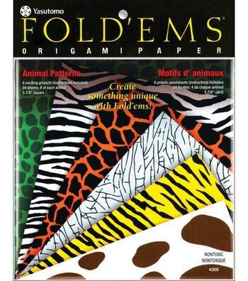 Fold 'Ems Origami Paper-24PK/Animal Prints
