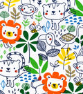 Snuggle Flannel Fabric -Sketched Jungle Friends