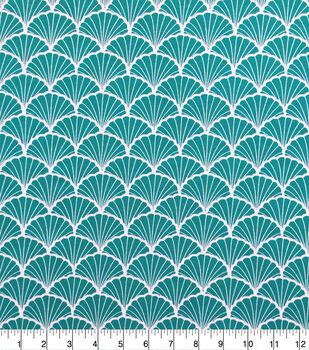 Knit Prints Pima Cotton-Turquoise White Shell