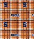 Syracuse University Orange Fleece Fabric 58\u0022-Plaid