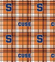 "Syracuse University Orange Fleece Fabric 58""-Plaid, , hi-res"