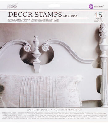 "Iron Orchid Designs Decor Clear Stamps 12""X12""-Letters"