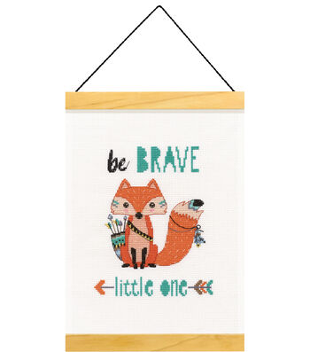 Dimensions Counted Cross Stitch Kit-Be Brave