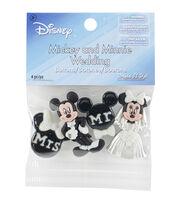 Jesse James Beads Dress It Up 4 pk Disney Mickey & Minnie Wedding Button, , hi-res