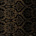 Metallic Lacquer Embossed Brocade Fabric-Black