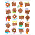 Chocolate Scented Stickers 12 Packs