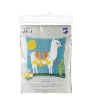 Vervaco Needlepoint Cushion Top Kit 16''X16''-Llama Stitched