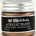 Prima Marketing Art Alchemy Acrylic Paint-Metallique Ancient Coin