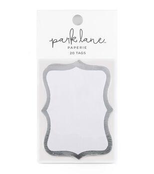 Park Lane 20 pk Cartouche Tags-Silver