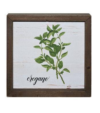 In the Garden Wood Block-Oregano