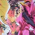 Fast Fashion Spandex Fabric-Geranium Splatter