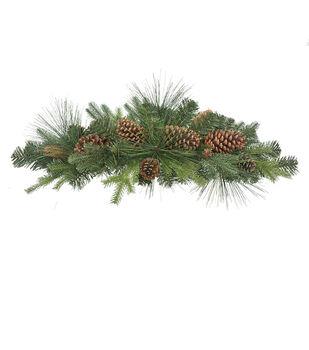 Handmade Holiday Christmas Greenery & Pinecone Mixed Swag