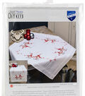 Vervaco Table Runner Stamped Cross Stitch Kit 16\u0022X40\u0022-Christmas Gnomes