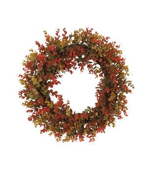 Blooming Autumn Boxwood Wreath