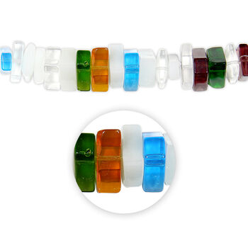 "Blue Moon Beads Strand 5""Glass Triangle/Multi-Shape, Multi Colors"