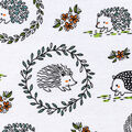 Snuggle Flannel Fabric -Woodland Hedgehogs