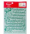 Stamperia Stencil G 8.27\u0027\u0027x11.69\u0027\u0027-Stave