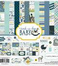 Carta Bella Paper Company Rock-A-Bye Baby Boy Collection 12\u0027\u0027x12\u0027\u0027 Kit