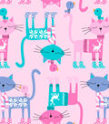 Snuggle Flannel Fabric-Cats with Fair Isle Sweater