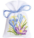 Vervaco Sachet Bags Counted Cross Stitch Kit 3.25\u0027\u0027X4.75\u0027\u0027-Spring Flower