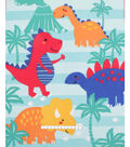 No Sew Fleece Throw-Tropical Dinos