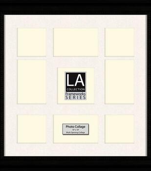 LA Collection Multi-Opening Collage Frame 18x18-Black/Cream