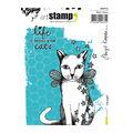 Carabelle Studio Art Birgit Koopsen 2 pk A6 Cling Stamps-Cat Angel