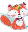 Vervaco 18\u0027\u0027x14.8\u0027\u0027 Small Fox Shaped Cushion Cross Stitch Kit