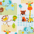 Super Snuggle Flannel Fabric-Zoo Animals Patch