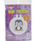 Kid Stitch Penguin Mini Counted Cross Stitch Kit-3\u0022 Round 11 Count