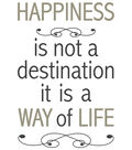 Home Decor Happiness Is Not A Destination Decal, 12 Piece Set