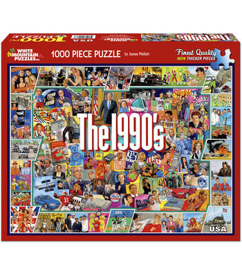 White Mountain Puzzles 1000 Pieces 24''x30'' Jigsaw Puzzle-The Nineties