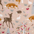 Anti-Pill Plush Fleece Fabric-Pretty Doe And Bunny