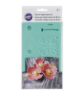 "Wilton Flower Impression Molds 6.5""X4.5"" 2/Pkg"