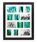 Mahogany & Glass 12 Openings Collage Wall Frame 16\u0027\u0027x20\u0027\u0027