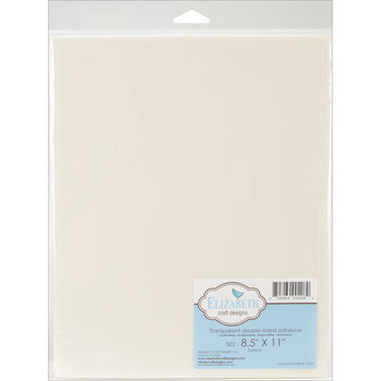 """Elizabeth Craft Designs Transparent Double-Sided Adhesive 8.5"""" x 11"""""""