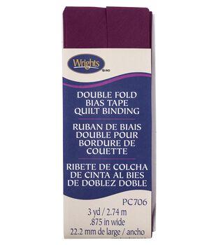 Wrights Double Fold Quilt Binding Bias Tape 7/8''x3 yds-Geranium