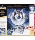 Plaid Creates Classic 16\u0027\u0027x20\u0027\u0027 Paint by Number Kit-Wolf Dreamcatcher