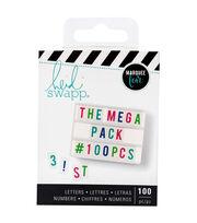 Heidi Swapp Lightbox Mega Pack Inserts-Multicolor Letters & Numbers, , hi-res