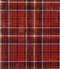 Harvest Cotton Fabric 43\u0022-Harvest Plaid Brown