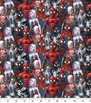 Marvel Cotton Fabric-Spiderman & Friends