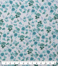 Keepsake Calico Cotton Fabric-Teal Packed Floral