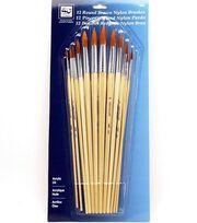 Loew-Cornell Round Nylon Brushes, , hi-res