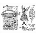 Viva Decor Clear Stamp Set 14cmX18cm-Steampunk Angel