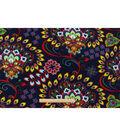 Anti-Pill Fleece Fabric 59\u0022-Boho Floral Medallion