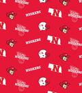 University of Nebraska Cornhuskers Cotton Fabric -Red