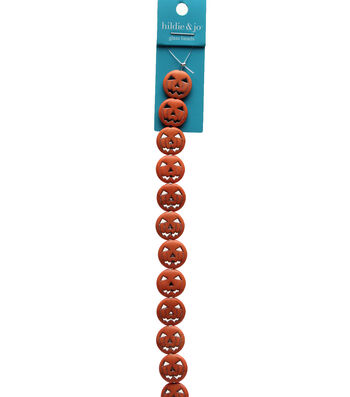 hildie & jo Strung Beads-Stone Jack o Lanterns