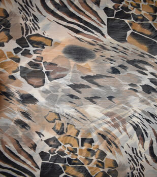 Fast Fashion Yoryu Chiffon Fabric-Brown Growl