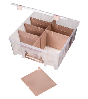 ArtBin Super Satchel Double Deep Box with Rose Gold Handles
